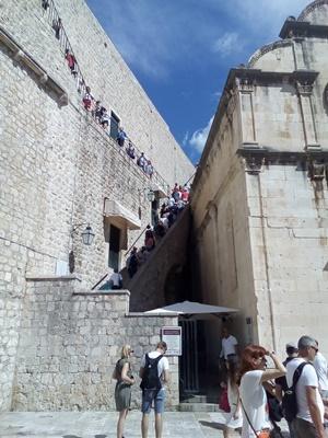 Main entrance to city walls near Pile gate