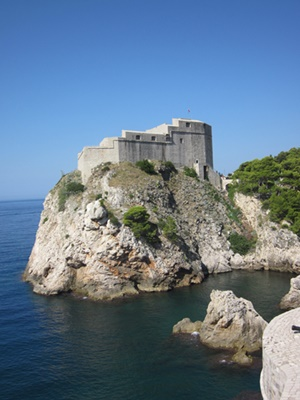Lovrijenac Fortress stands on the 37 m high cliff