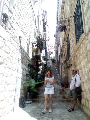 The narrow street of the Old Town