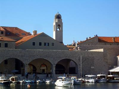 The Bell tower seen from the port