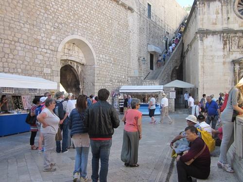 Main entrance to Dubrovnik City walls
