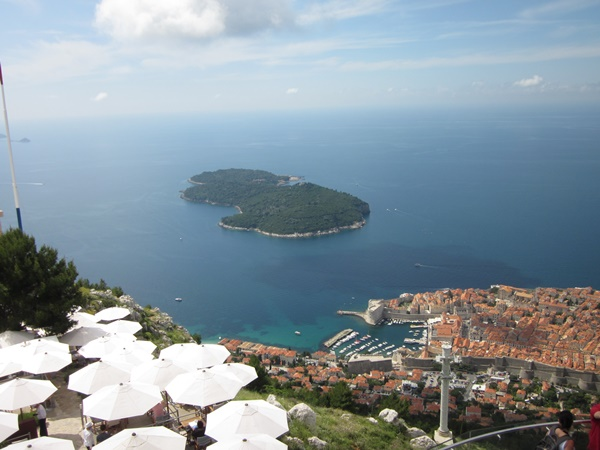 The island of Lokrum is situated across the Old Town