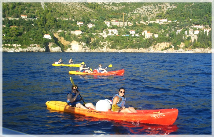 Sea kayakers in Dubrovnik
