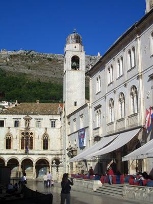The Bell tower and Sponza palace