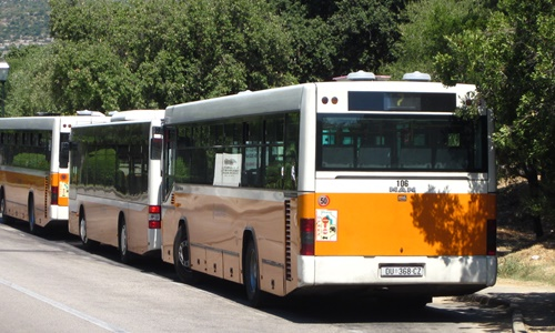 City buses in Dubrovnik