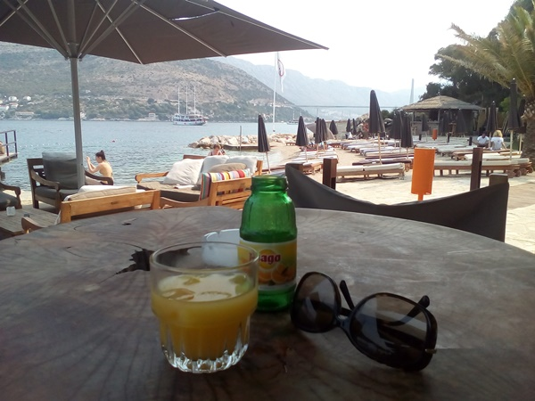 Great views from the beach bar