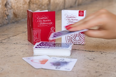 Playing cards with Dubrovnik motifs