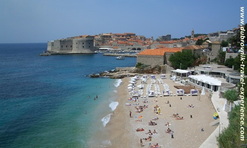 The Banje beach in Dubrovnik