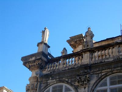 Statues on the Dubrovnik Cathedral