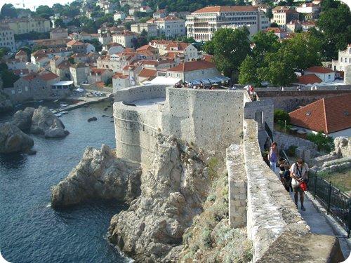 Dubrovnik walls sea-side