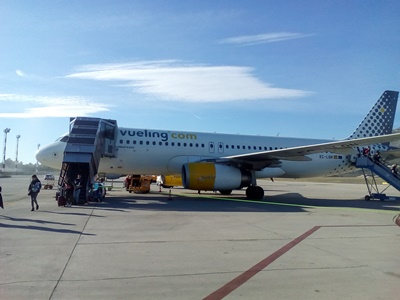 Vueling plane on Dubrovnik Airport