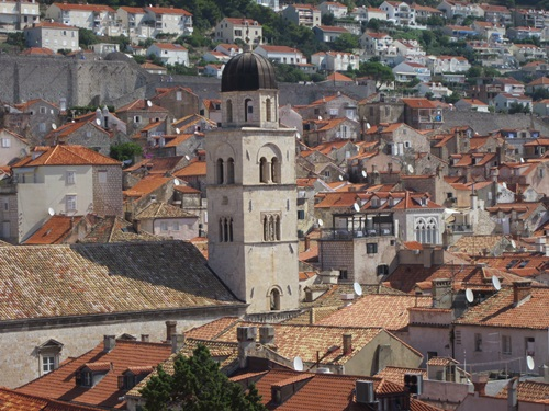 The tiled roofs of Dubrovnik