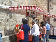 A souvenir stall in the Old Town
