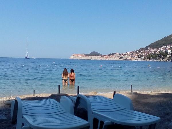 St James beach in Dubrovnik