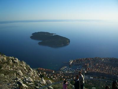 The amazing view of the Old Town and Lokrum
