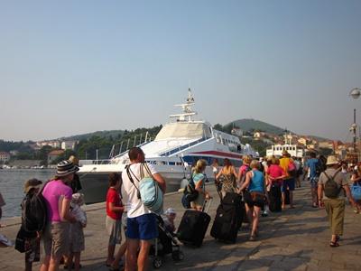 Catamaran to the island of Mljet