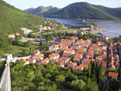 Ston on Peljesac peninsula