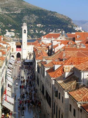 View of Stradun from City walls