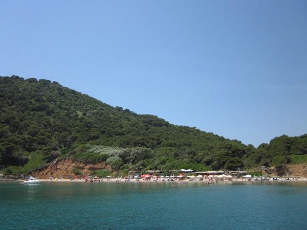 Beautiful sandy beach Sunj situated on the island of Lopud