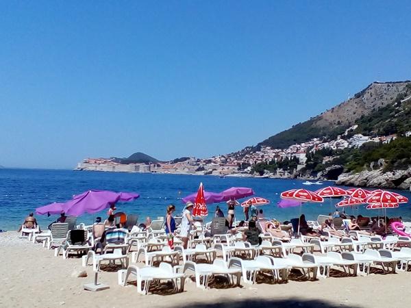 Saint James beach in Dubrovnik