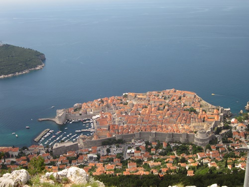 Dubrovnik's Old Town is completely surrounded by massive walls