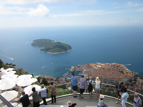 Views of Dubrovnik from Mount Srdj