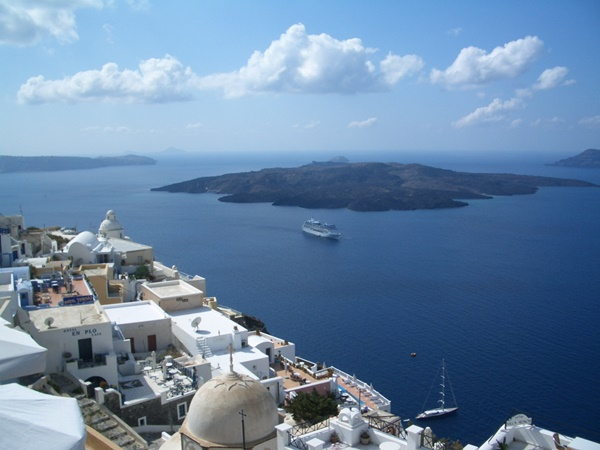 The island of Santorini