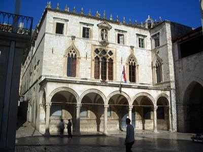 Sponza Palace is situated on the north side of Luza Square